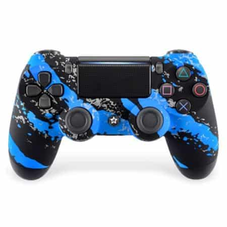 Custom Controller 4PS | Blue Splatter
