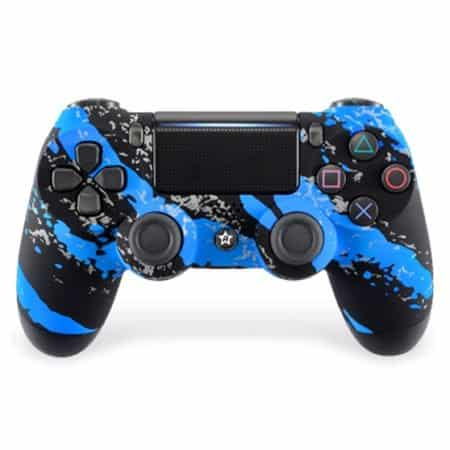 Custom Controller 4PS | Paddles X+O | Blue Splatter