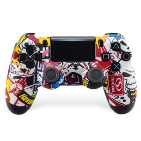 Custom Controller 4PS | Paddles X+O | Sticker Bomb