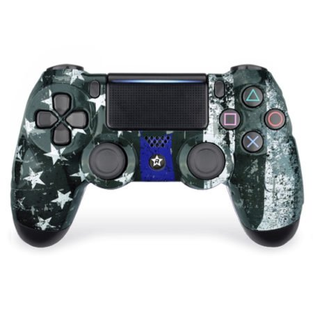 Custom Controller 4PS | Paddles X+O | Blue-Flag Design