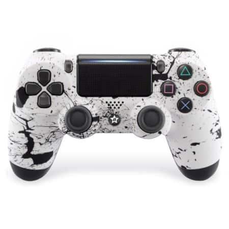 Custom Controller 4PS | Paddles X+O | Splash weiß