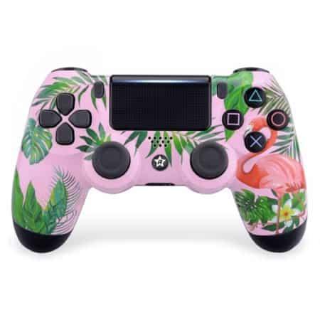 Custom Controller 4PS   Paddles X+O   Flamingo Design