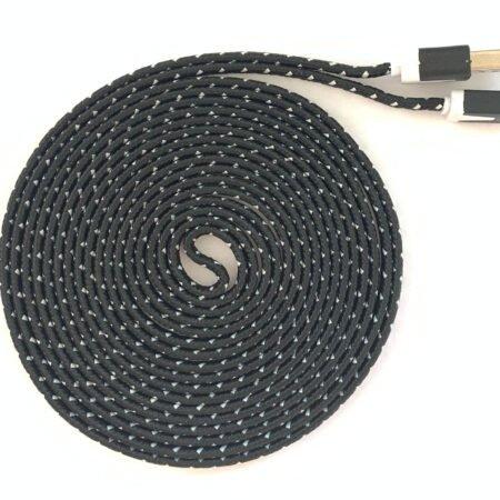 Micro USB Ladekabel 3 Meter für PS4 / XBOX One Controller – schwarz / weiß